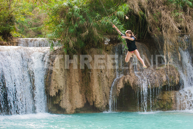 Rope Swing, Kuang Si Waterfall