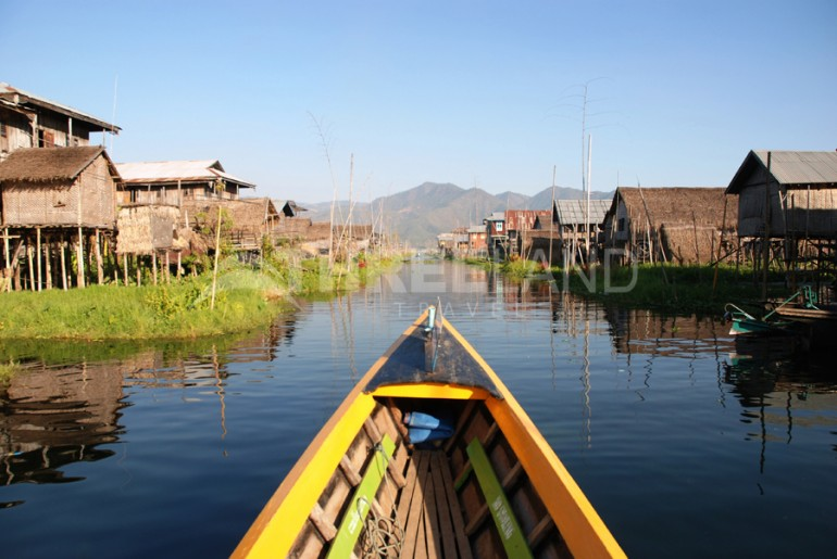 Inle Lake Burma floating village