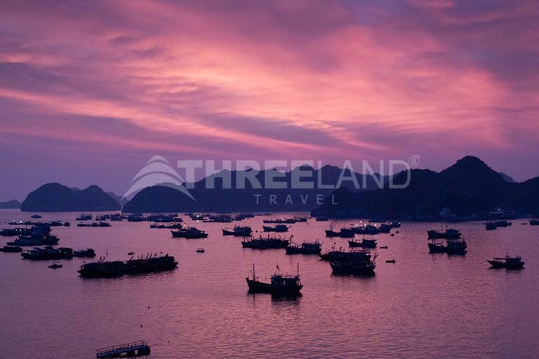 Sunset at Halong Bay, Vietnam
